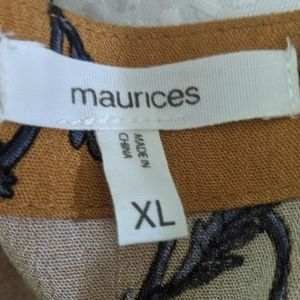 Maurices Dresses - EUC high to low mustard yellow dress with flowers
